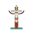 colorful indian totem icon vector image