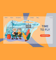 concept travel website landing page a vector image vector image