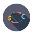 Currency exchange single icon vector image vector image