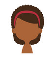 cute and little african girl shirtless vector image