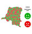 emotional democratic republic of the congo vector image