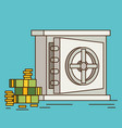 eps10 flat concept safe with money vector image