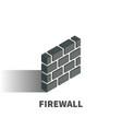 firewall icon symbol vector image vector image