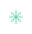 Flake of snow Icon vector image vector image