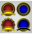 four gold-framed labels set vector image