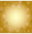 gold background - christmas card with snowflakes vector image