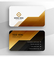 Golden premium business card in geometric style