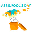 greeting card an april fools joke vector image