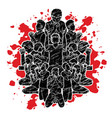 group of people prayer praise to the lord vector image vector image