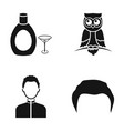 hairdresser alcohol and or web icon in black vector image