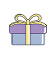 happy birthday gift box with ribbon decoration vector image vector image