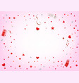 happy valentines day card yemplate vector image