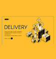 holiday gifts delivery service website vector image vector image
