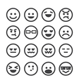 human emotion icon vector image vector image