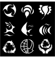 icons of nature vector image