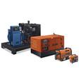 industrial power generators vector image vector image