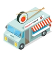 Japan Food Street Eatery in Isometric Projection vector image vector image
