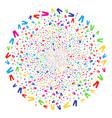 jeans burst spheric cluster vector image vector image