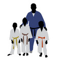 judo team vector image