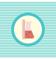 Medical flasks color flat icon vector image vector image