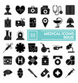 medical glyph icon set medicine symbols vector image vector image