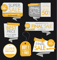 modern sale banners and labels collection 2 vector image vector image