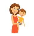 mother with child happy family and son vector image vector image
