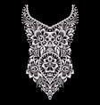 neckline - ornamental floral design vector image vector image