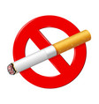 no smoking icon vector image vector image