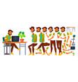 office worker indian emotions gestures vector image vector image
