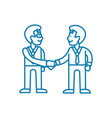 partnerships linear icon concept vector image vector image