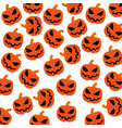 pattern silhouette with halloween pumpkin vector image vector image