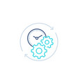 productivity line icon with stopwatch and gears vector image vector image