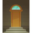 Retro Front Door vector image vector image