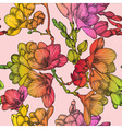 Seamless Floral Pattern with Spring Freesias vector image vector image