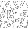 seamless pattern with pencil vector image vector image