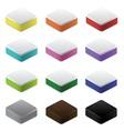 set colorful blocks vector image vector image
