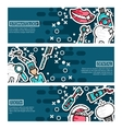Set of Horizontal Banners about stomatology vector image vector image