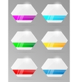 Set of paper banners with ribbon vector image vector image
