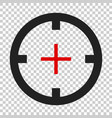 shooting target icon in flat style aim sniper vector image