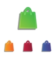 Shopping bag Colorfull applique vector image