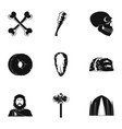 speleological icons set simple style vector image vector image