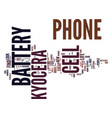 the kyocera cell phone battery what to look for vector image vector image