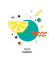 trendy style geometric pattern with lemon vector image vector image