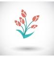 Tulip single icon vector image vector image