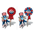 uncle sam i want you to vote - surgical mask vector image