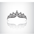 vintage elegant decorated with star crown vector image