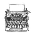 vintage mechanical typewriter vector image vector image