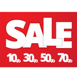 White sale sign vector image vector image
