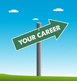 Your career vector image vector image